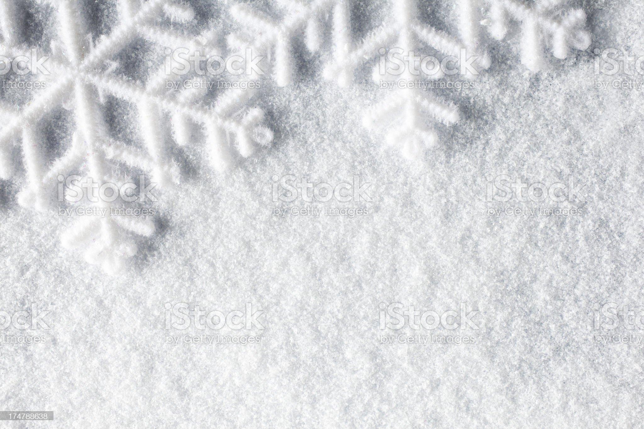 Snowflakes - Snow Macro Winter Christmas Background royalty-free stock photo