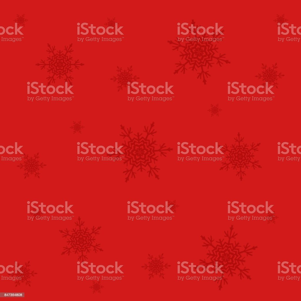 Snowflakes,christmas  pattern  on the red christmas  background stock photo