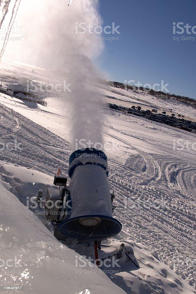 Snowgun royalty-free stock photo