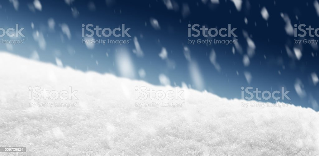 Snowing in the Night stock photo