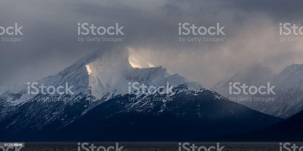 Snowline royalty-free stock photo