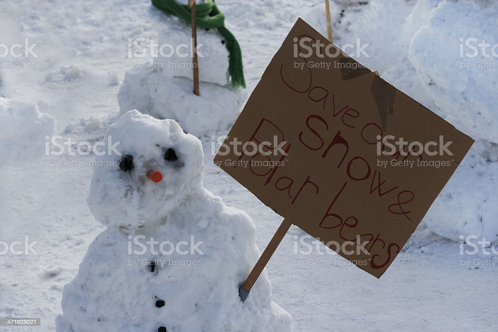 Snowman activist 2 royalty-free stock photo