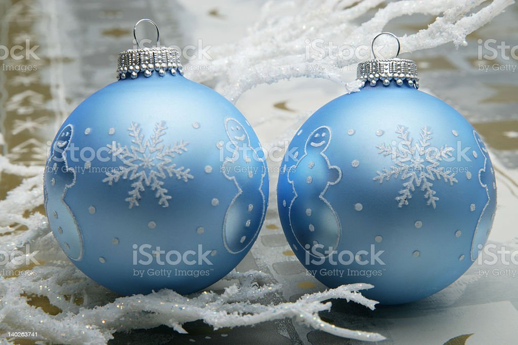 Snowman christmas balls royalty-free stock photo