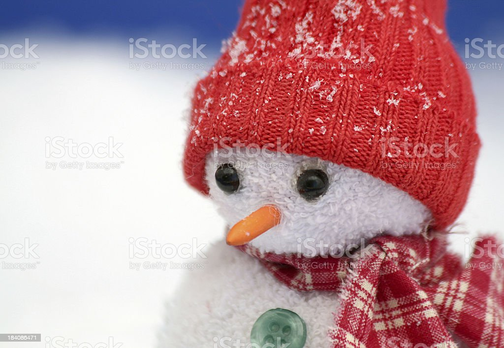 Snowman Close-up royalty-free stock photo