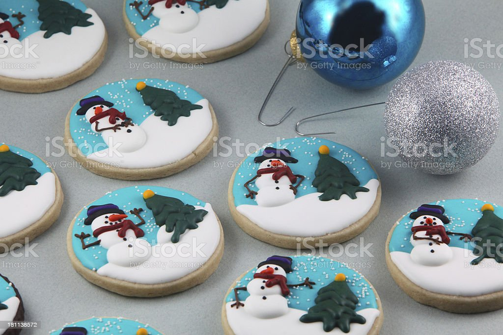 Snowman Cookies royalty-free stock photo
