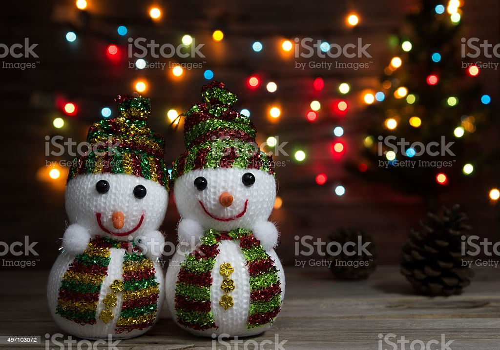 snowman dolls stock photo