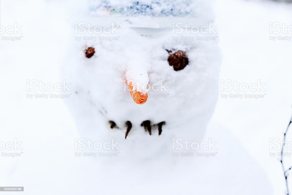snowman face royalty-free stock photo