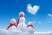 snowman family love