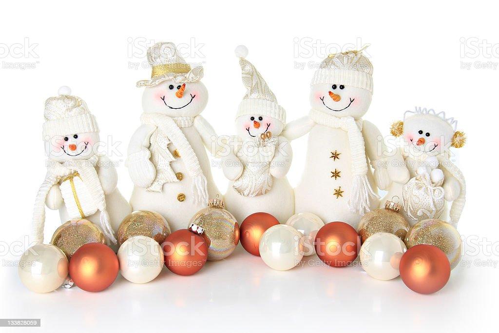 Snowman family royalty-free stock photo