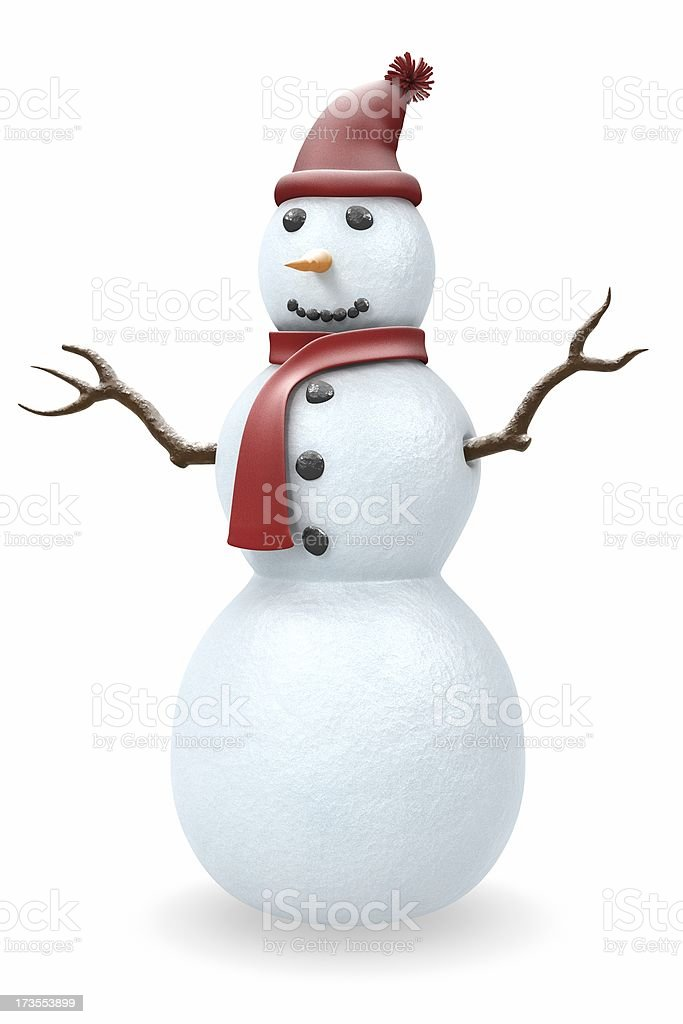 Snowman III royalty-free stock photo