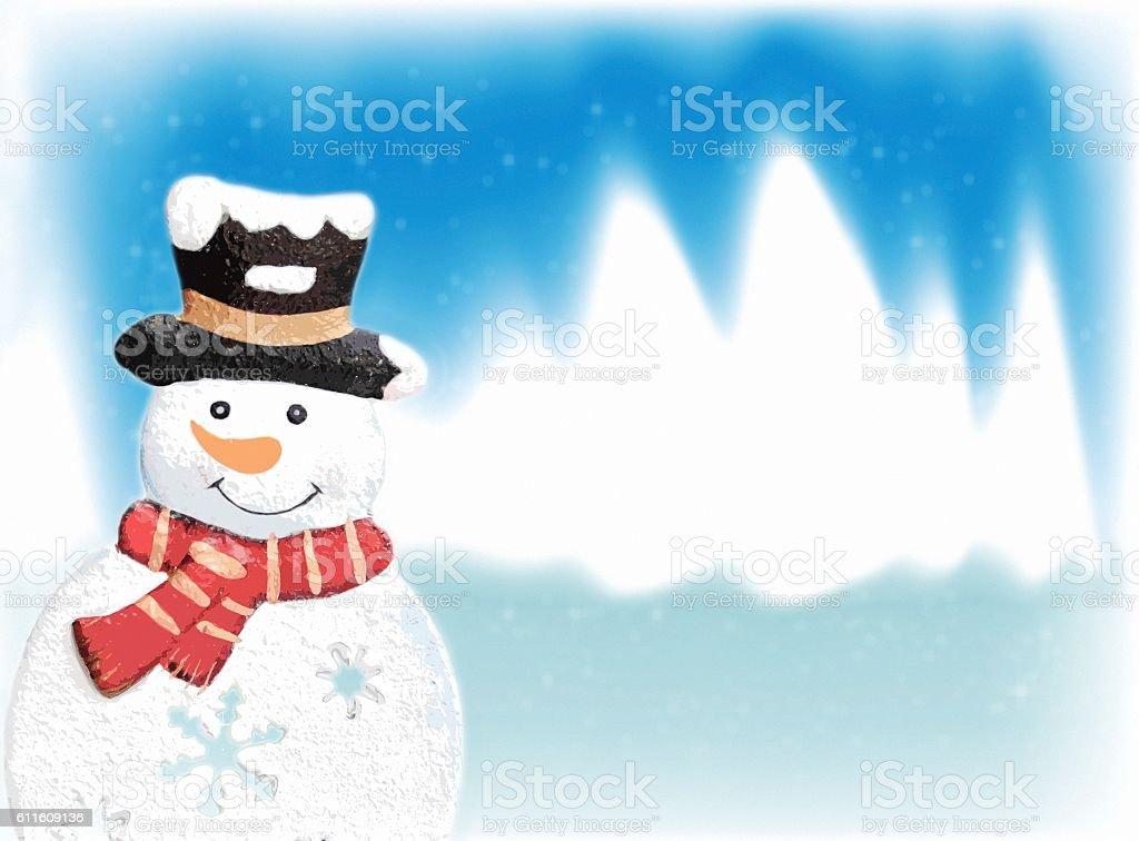Snowman in Winterland stock photo