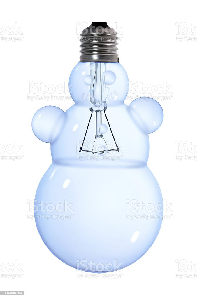 snowman light bulb royalty-free stock photo