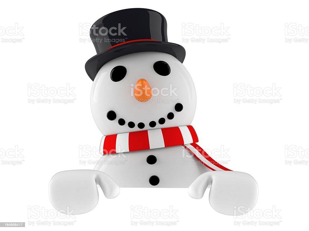 Snowman royalty-free stock photo