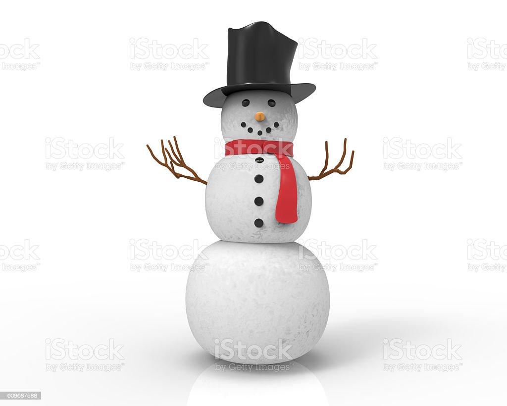 Snowman stock photo