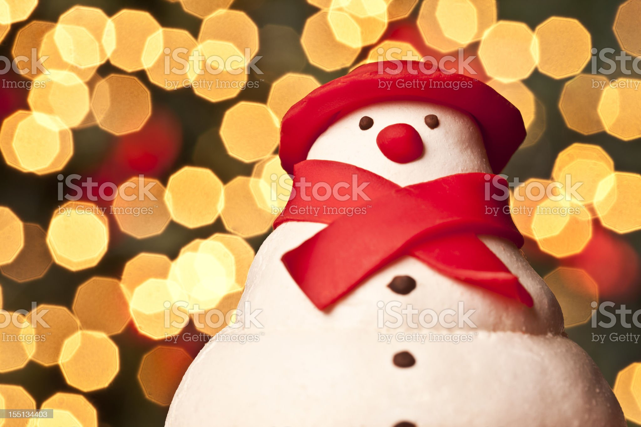 Snowman portrait royalty-free stock photo