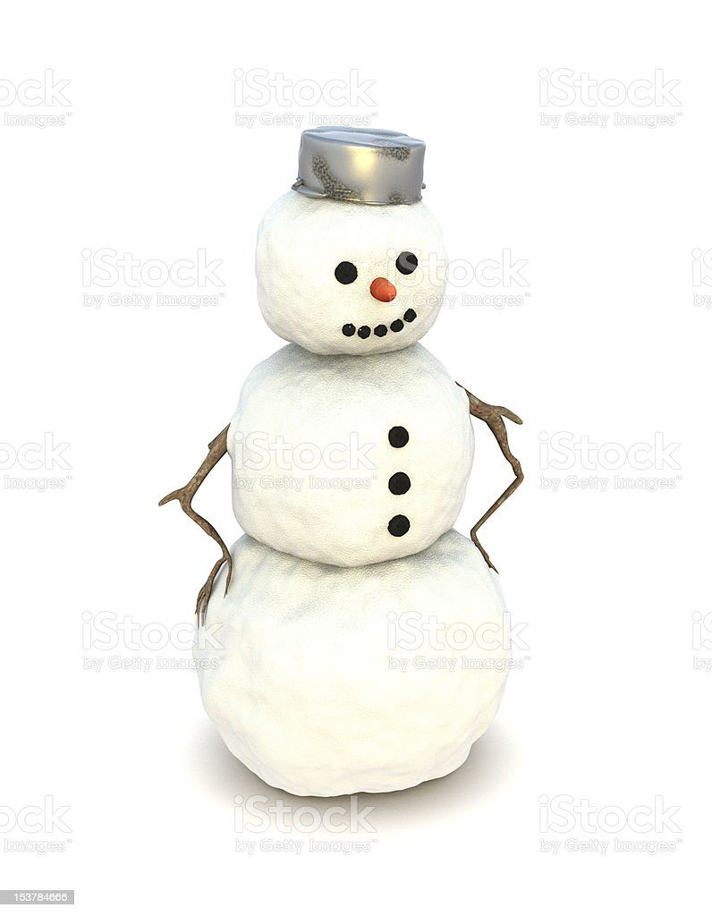 Snowman smiling royalty-free stock photo