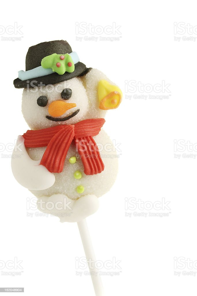Snowman treat stock photo