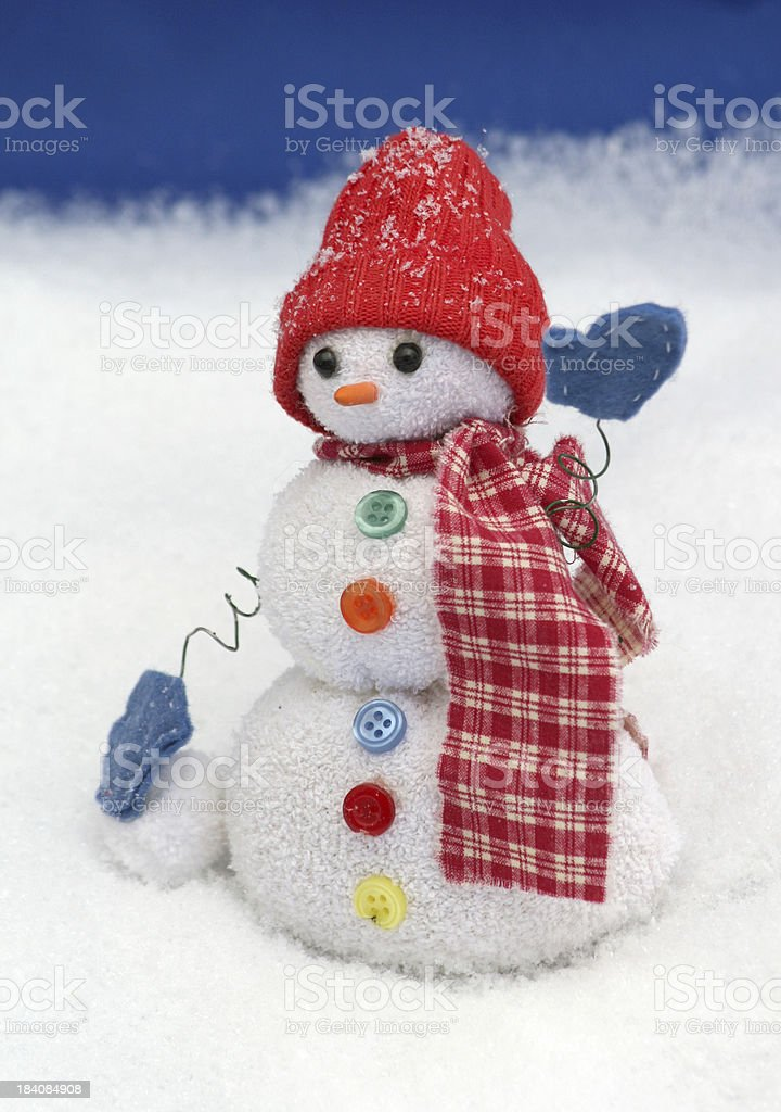 Snowman Waving royalty-free stock photo
