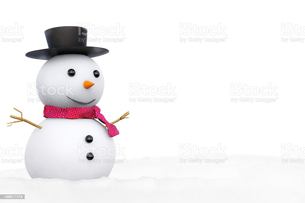 snowman with blank space stock photo
