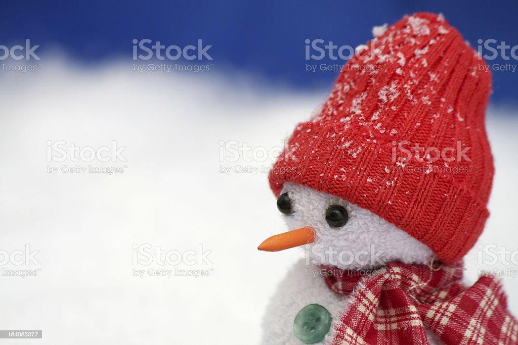 Snowman's Head royalty-free stock photo