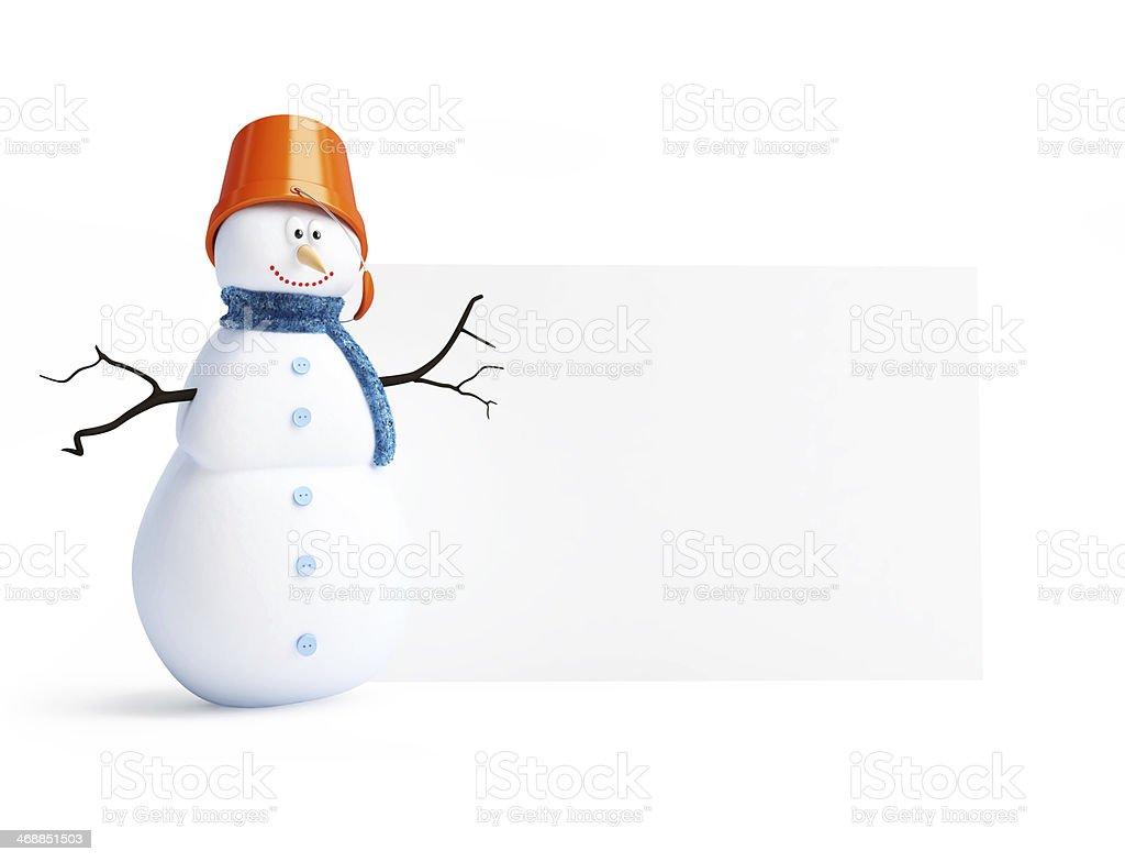 snowmen blank royalty-free stock photo