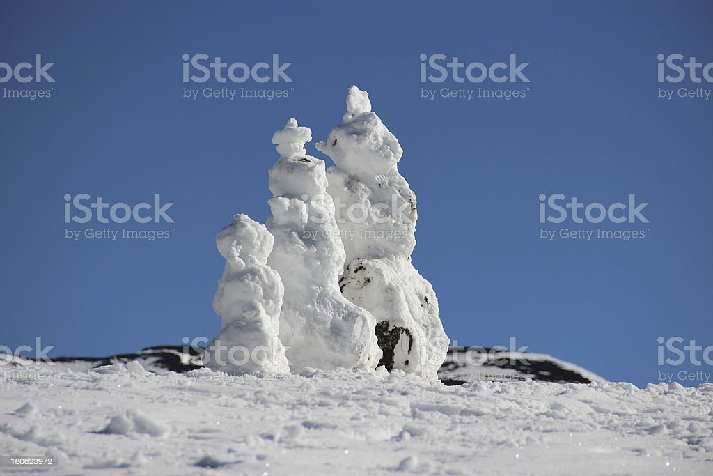 Mu?ecos de nieve stock photo