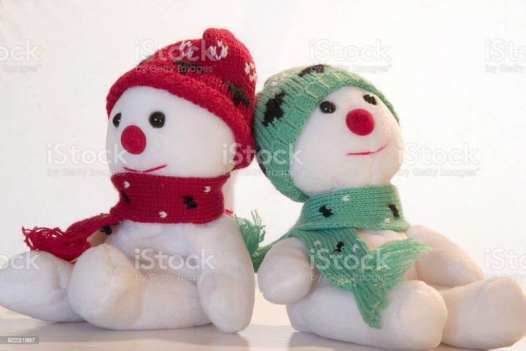 Snowmen royalty-free stock photo