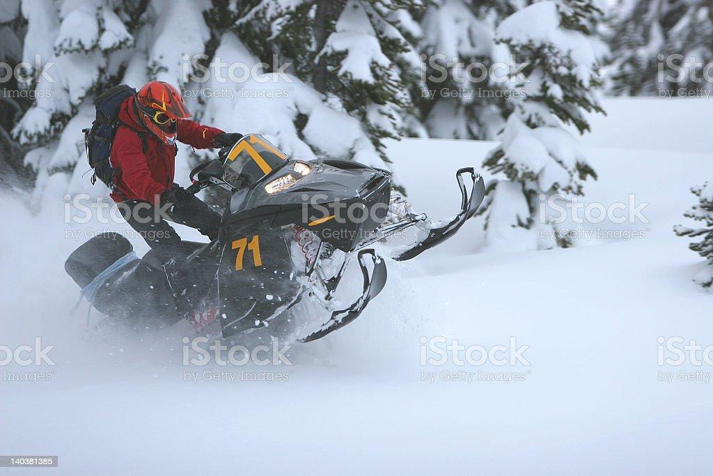 Snowmobile 1 stock photo