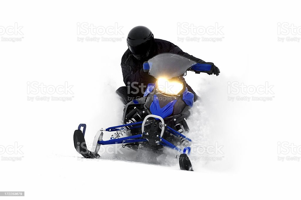 Snowmobile at Speed royalty-free stock photo