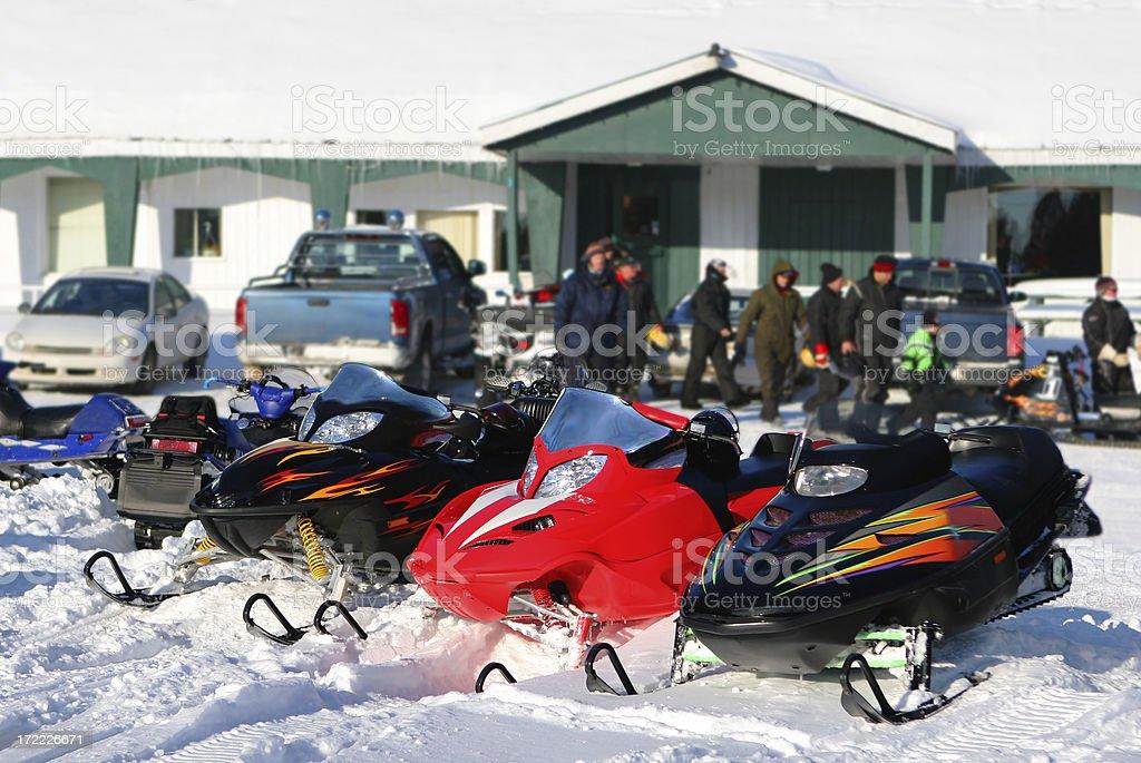 Snowmobile Club royalty-free stock photo