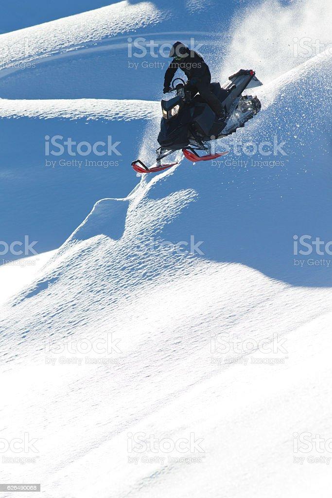 Snowmobile Extreme stock photo