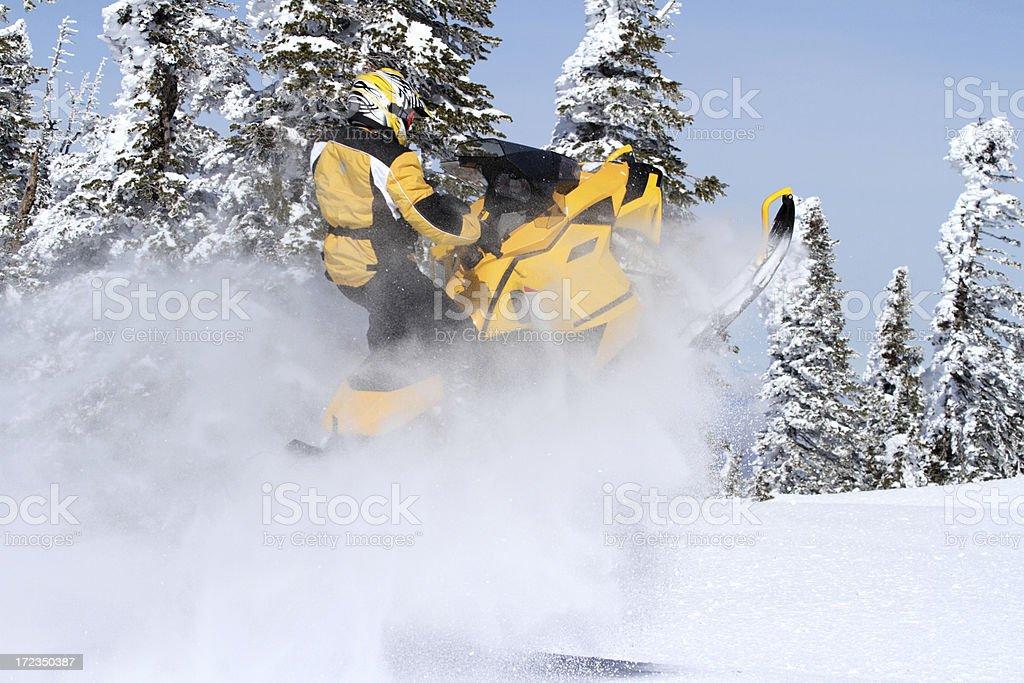 Snowmobile fun royalty-free stock photo
