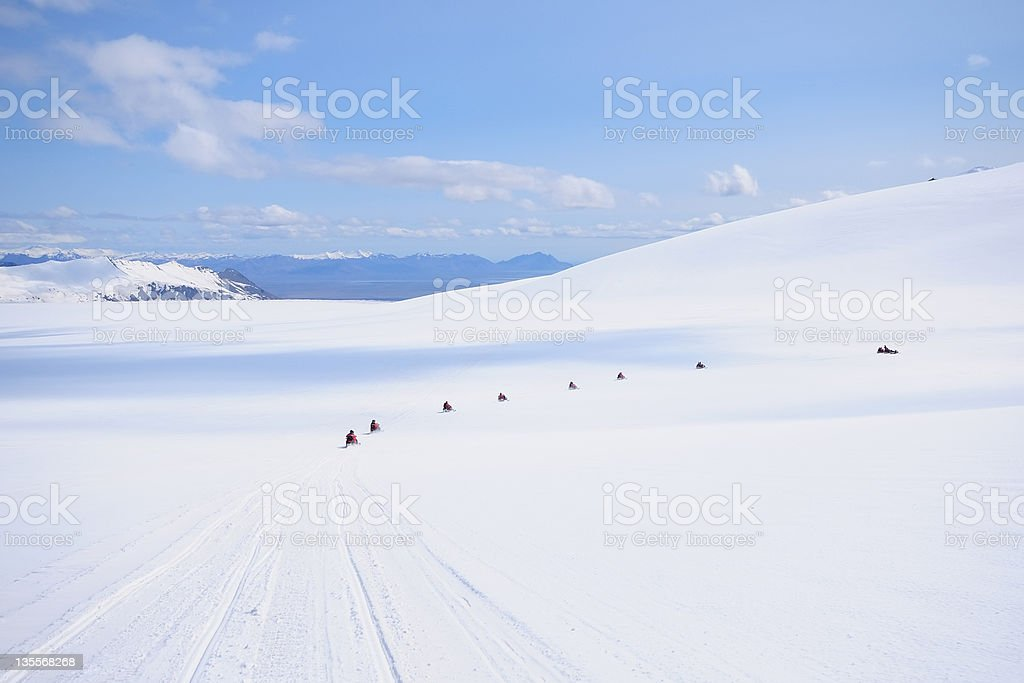 Snowmobile on Glacier royalty-free stock photo