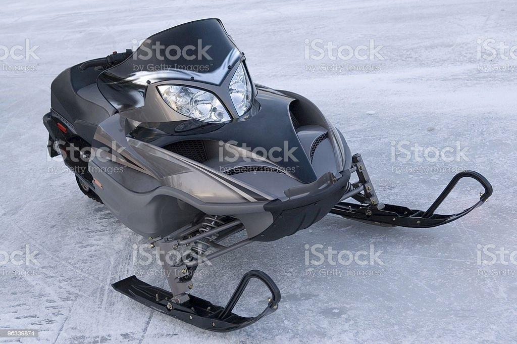 Snowmobile on Lake royalty-free stock photo