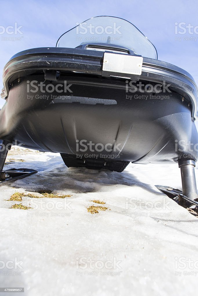 snowmobile on the snow royalty-free stock photo