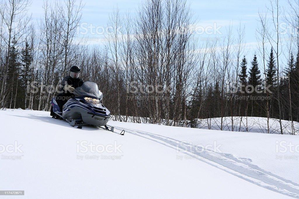 Snowmobile (motoneige) royalty-free stock photo