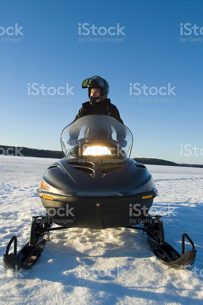 snowmobile royalty-free stock photo