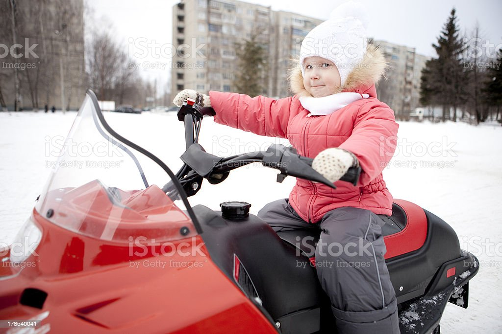 Snowmobile. royalty-free stock photo