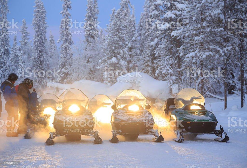 Snowmobile royalty-free stock photo