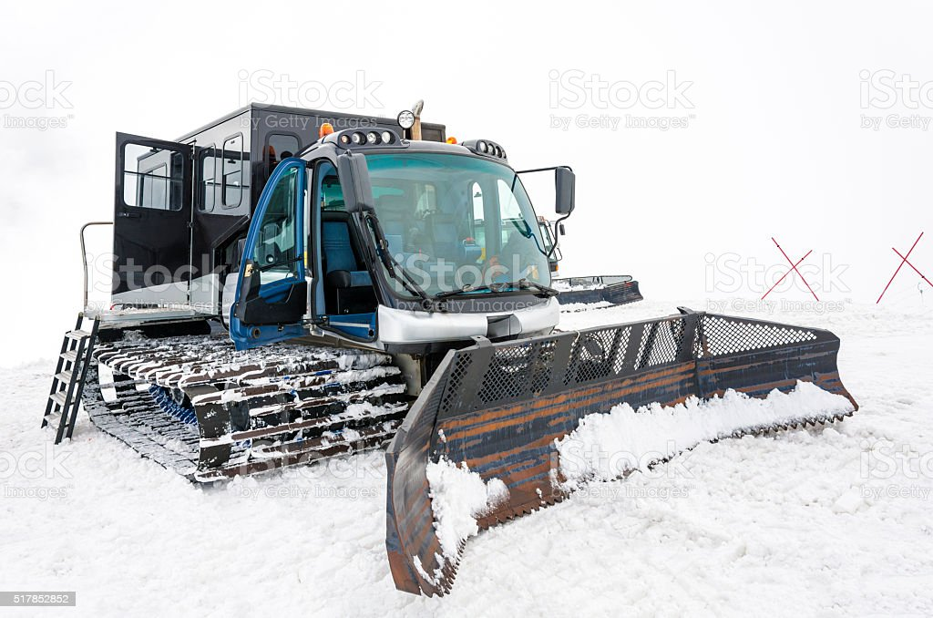 Snowmobile stock photo