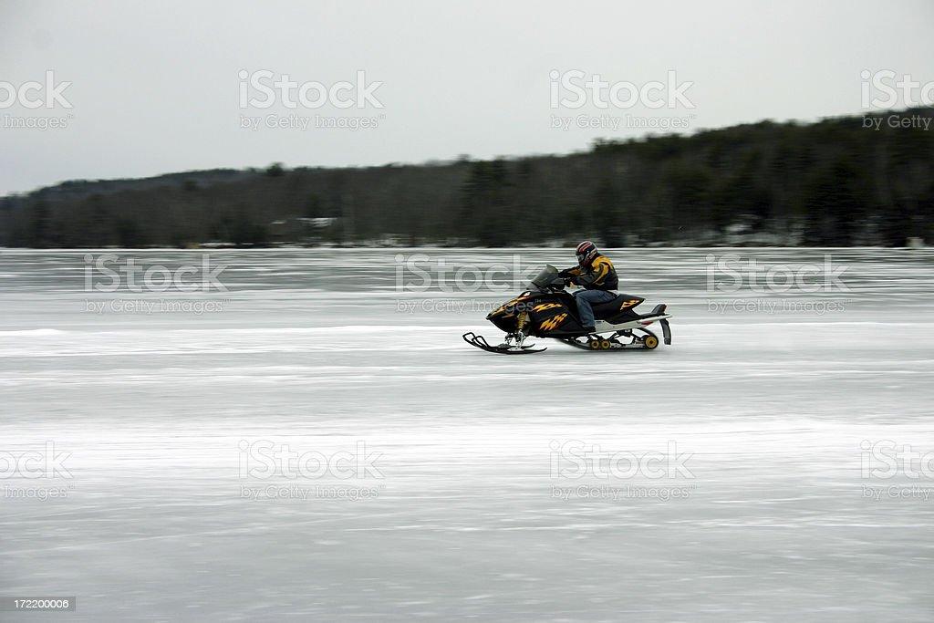 Snowmobile race II royalty-free stock photo