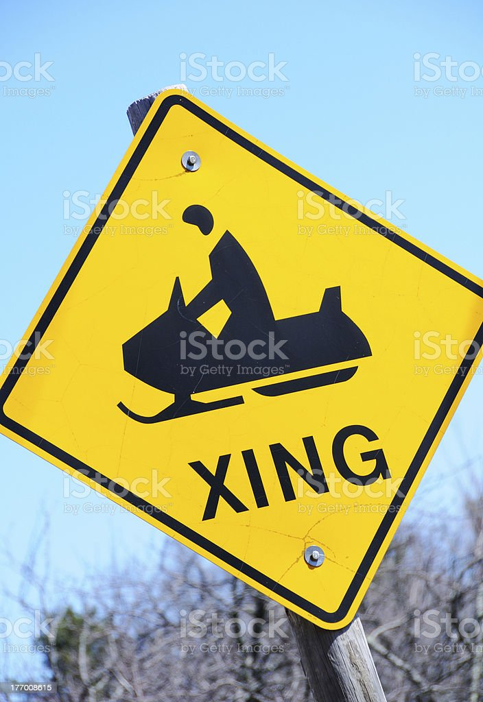 Snowmobile Sign royalty-free stock photo