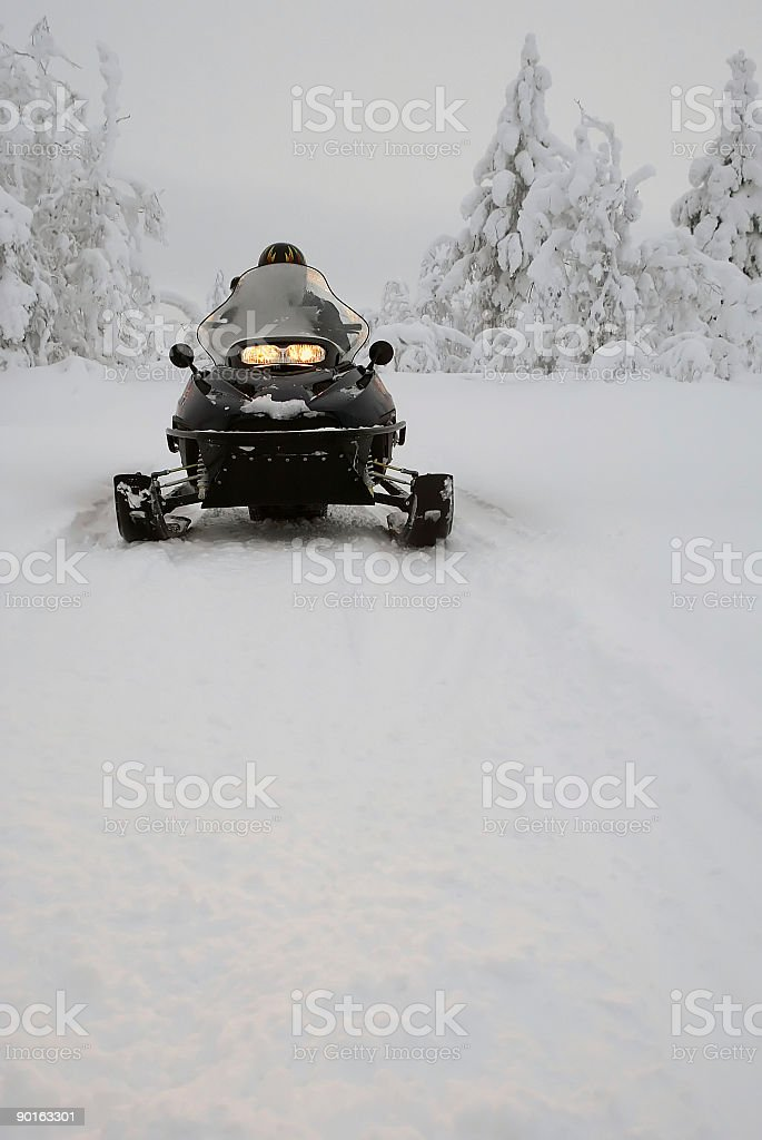 snowmobile ski doo in Finland -  Winter royalty-free stock photo