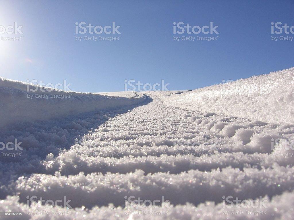 snowmobile trail royalty-free stock photo
