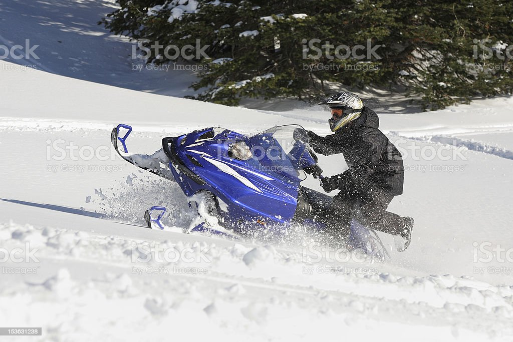 snowmobiler royalty-free stock photo