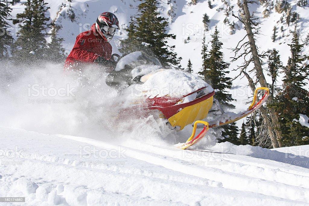Snowmobiler royalty-free stock photo