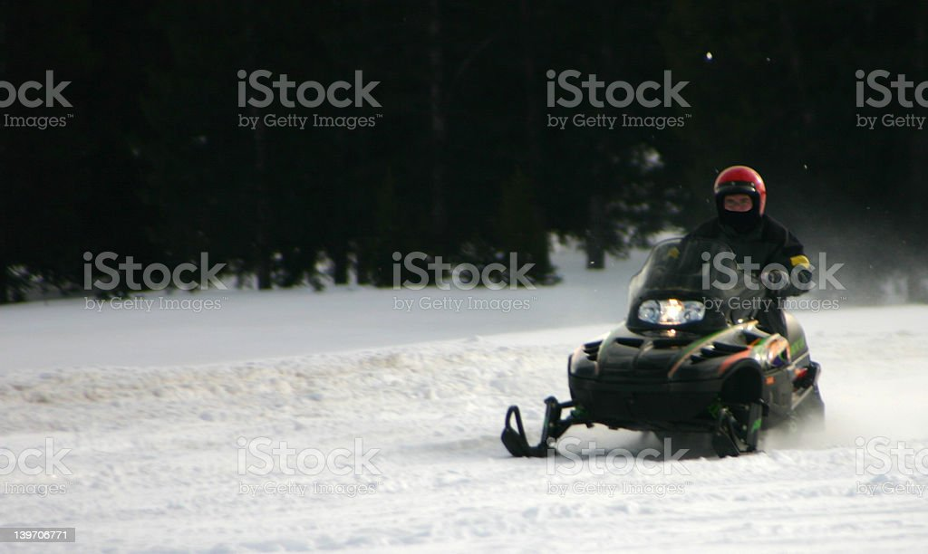 Snowmobiler2 royalty-free stock photo