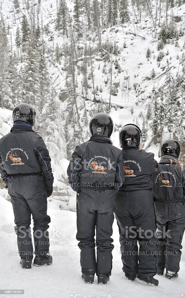 Snowmobilers royalty-free stock photo