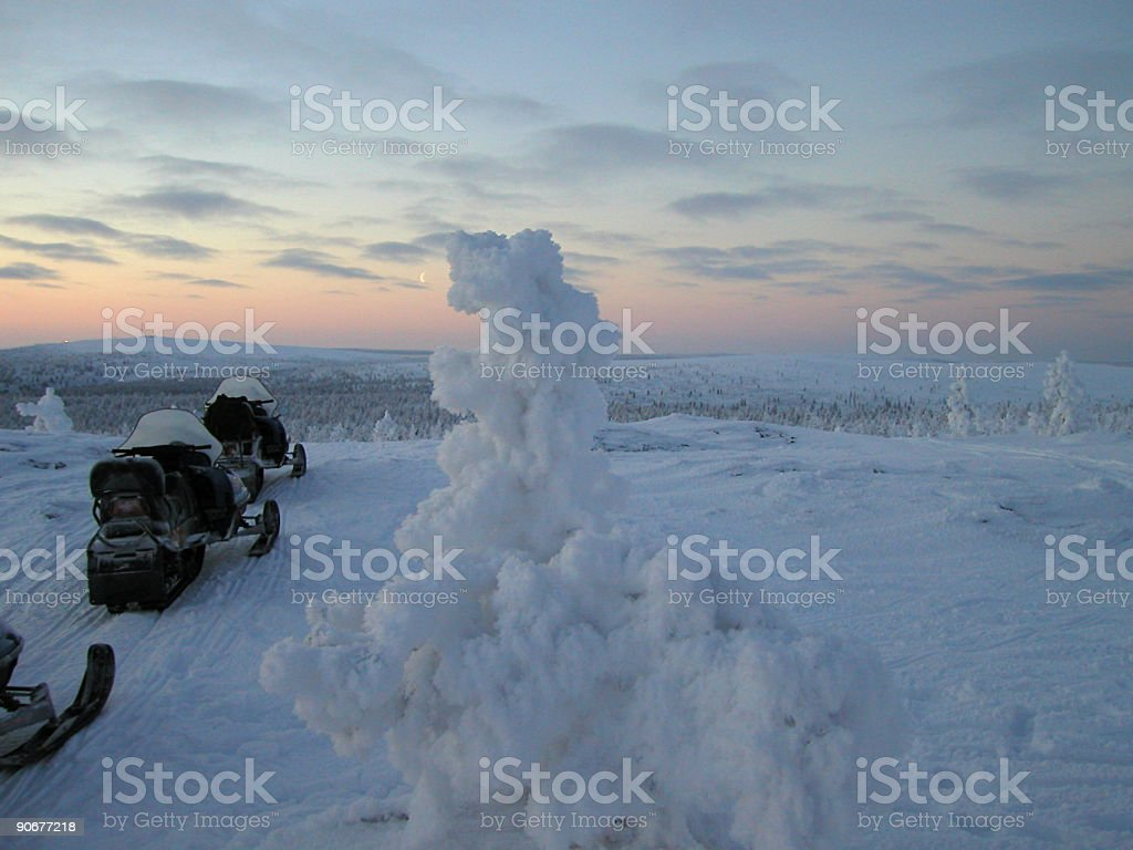 SnowMobiles 2 royalty-free stock photo
