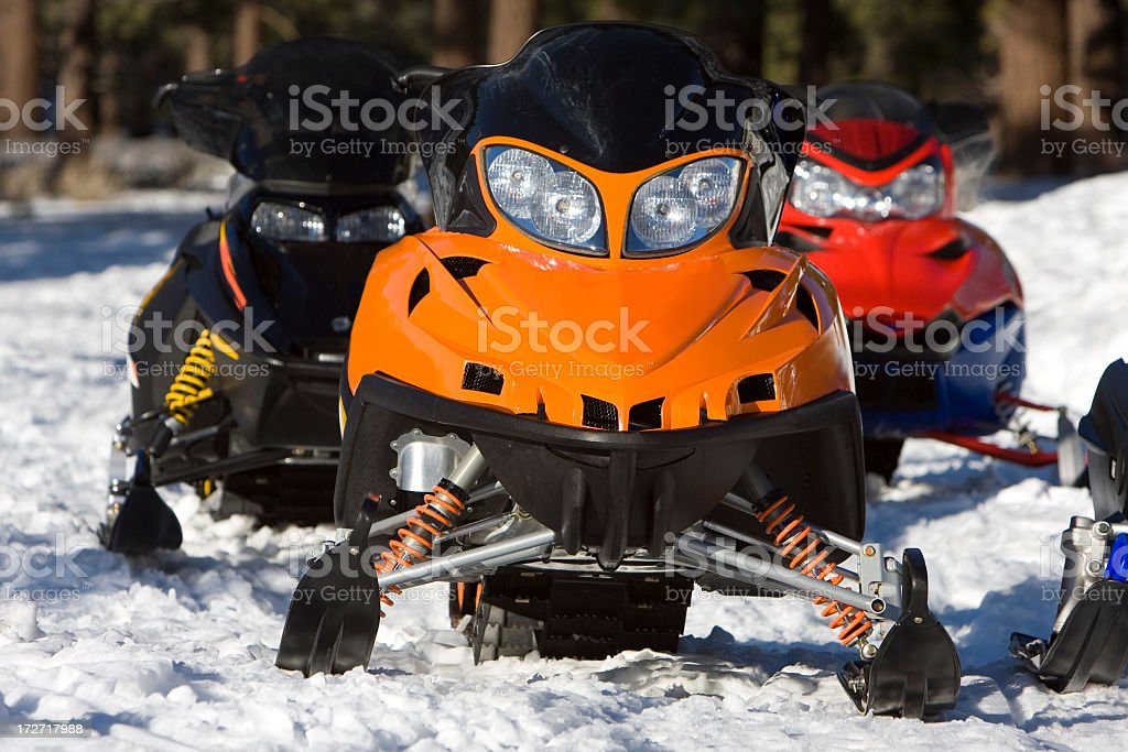 snowmobiles (#2 of series) royalty-free stock photo